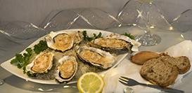 huîtres gratinées aux échalotes