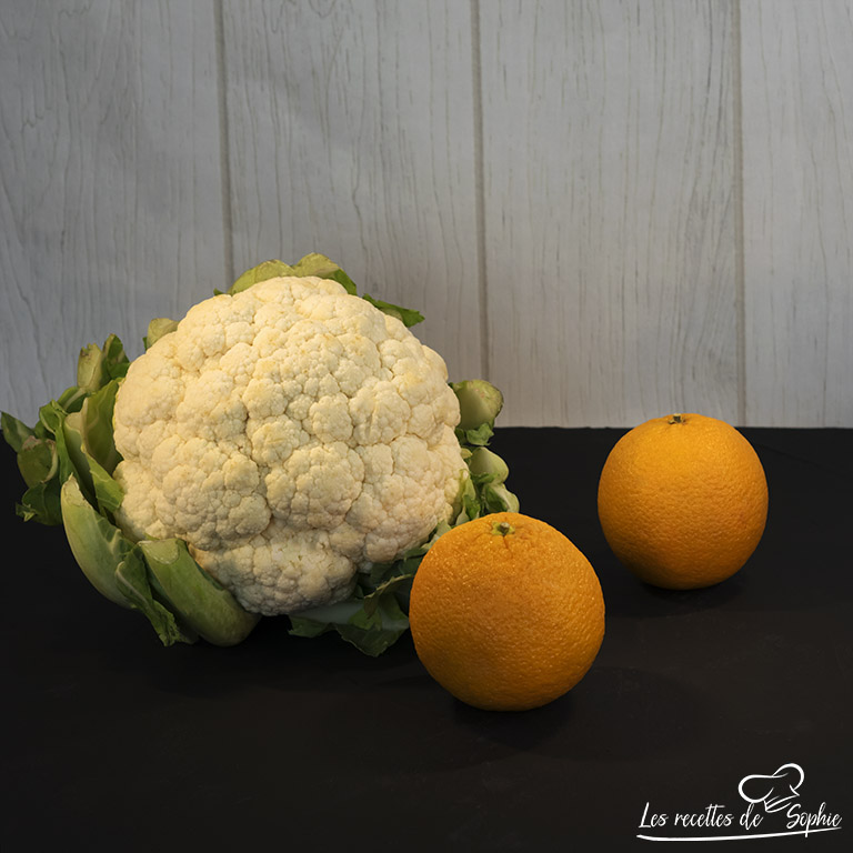 Velouté de chou-fleur à l'orange ingrédients