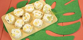 wraps chèvre mangue