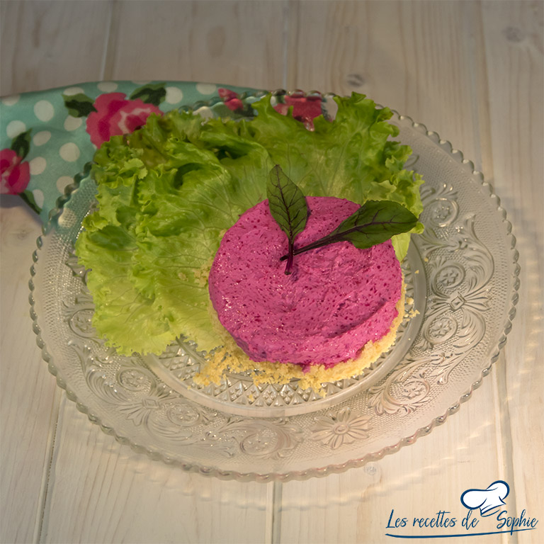 Cheesecake salé à la betterave